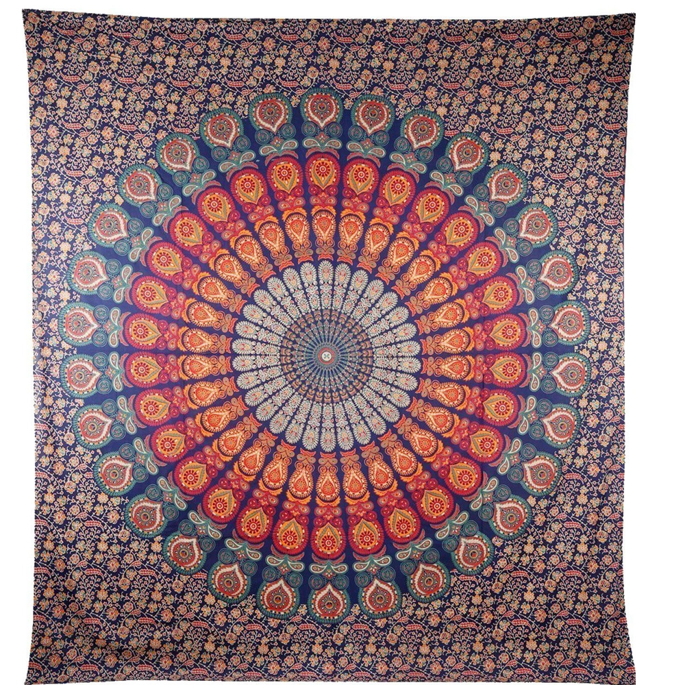 100% Cotton Brown Bohemain Indian Wall Hanging Tapestry Wholesale