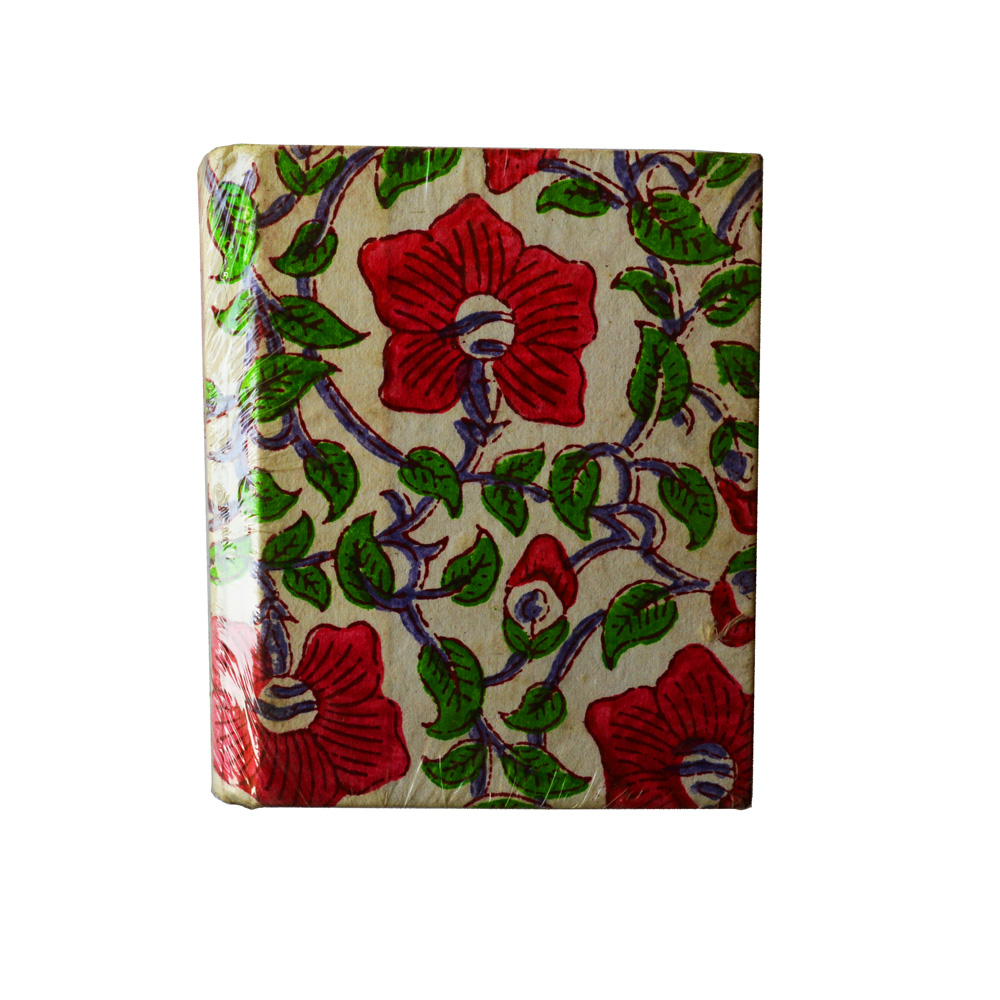 Beautiful handmade diary with traditional floral prints
