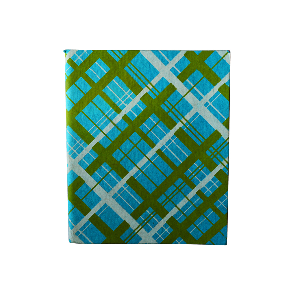 Check pattern notebook with dual print