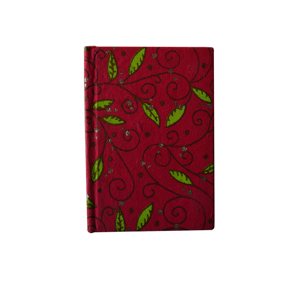 Dark toned diary with floral and leaf print