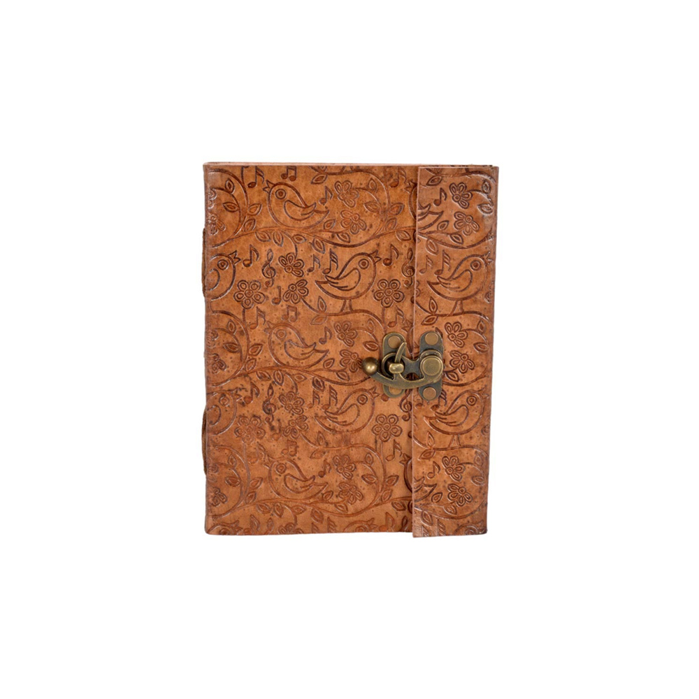 Handmade Leather Notebook With Lock