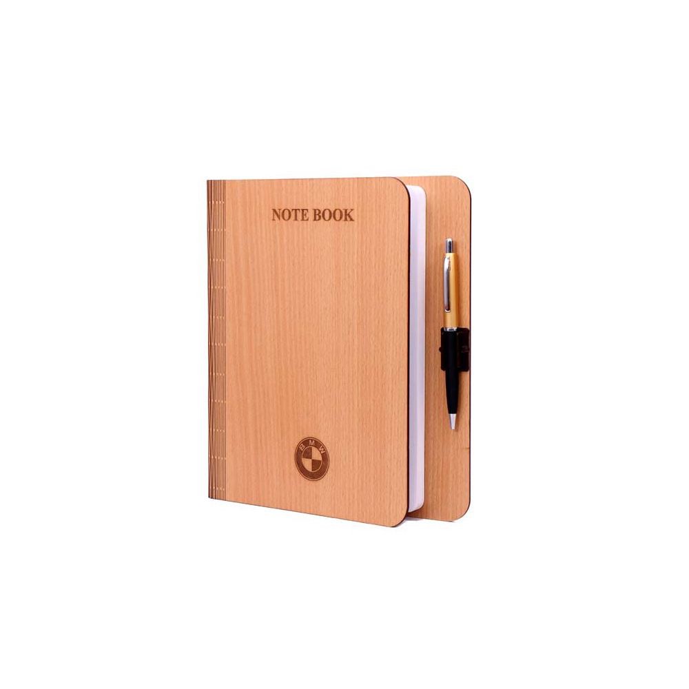 Nescafe wooden note book with ball pen
