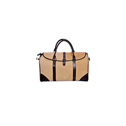 Leather travel duffle bag canvas